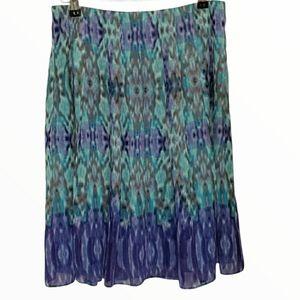 Jones Wear Blue & Purple Skirt